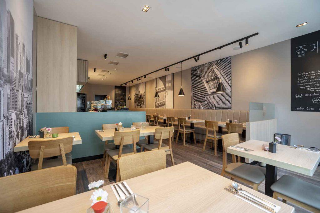 Koreanisches Restaurant - Soulfood - Doboo in Bonn - innenaufnahme gesamt, perspektive eingang