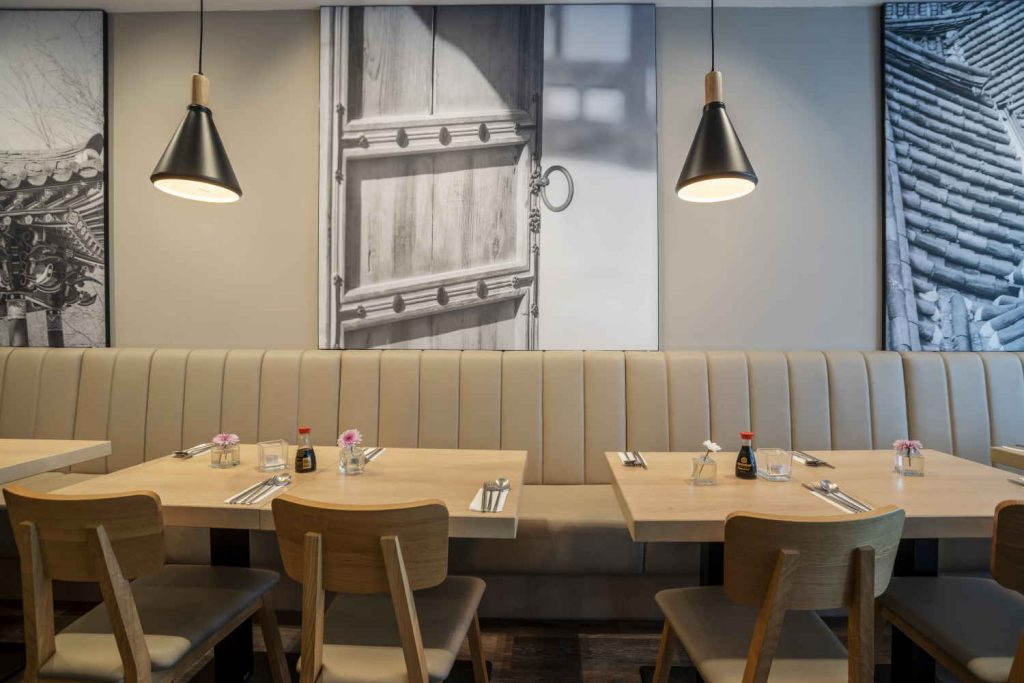 Koreanisches Restaurant - Soulfood - Doboo in Bonn - innenaufnahme, teilansicht wand